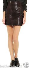 New Womens Mini Designer Skirt Genuine Soft Lambskin Leather Skirt For Women-04