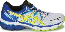 Asics Gel Pulse 6 T4A3N 0107 Mens Running Trainers White Flash Yellow Blue