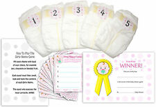 Dirty Nappy Baby Shower Game, 12 Players Girl, Boy, Neutral, Blue, Pink, Green