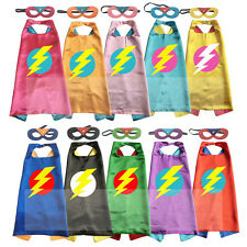 Superhero Cape with mask Lightening Bolt 2T - 7T super hero costume kids toys