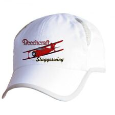 Beechcraft Staggerwing Airplane Pilot Hat - Personalized with N#