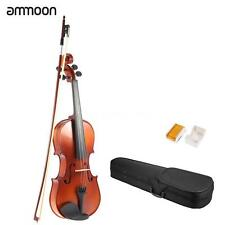 New 1/4 1/2 3/4 4/4 Size Acoustic Natural Violin with Case Bow Rosin+US Ship