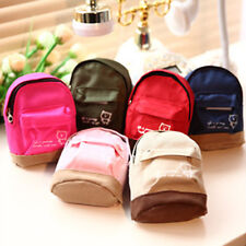 Mini Small Cute Women Lady Girl Pouch Coin Purse Backpack Canvas Bag Wallet TO