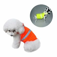 Small Pet Dog Reflective Safety Vest Puppy Cat Coat Visibility Apparel Outerwear