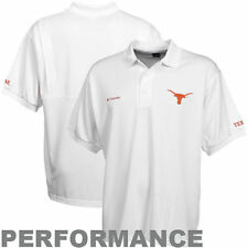 NEW MENs COLUMBIA PFG TEXAS LONGHORNS Perfect Cast POLO SHIRT S,M,L,XL,XXL White