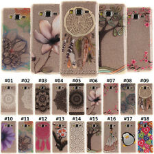 Painted TPU Rubber Skin Cover Back Gel Soft Clear Case For Samsung Phone A5 A510