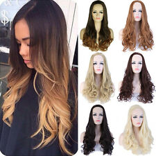 Women Long Straight Half Wig Cosplay Costume Party Synthetic Wigs blonde Hair