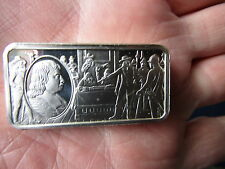 OVER 2oz  66 gram .925 SOLID SILVER Bullion Proof Bar CROMWELL  1649 - 1658