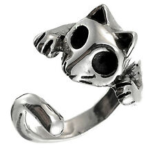 TAXCO 925 STERLING SILVER CAT RING -Mexico Vintage Style Jewelry