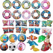 Inflatable Swim Rings Arm Bands Beach Ball Minions Paw Patrol Princess Ages 3-6