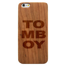 Laser Engraved Wood Case Quote TOMBOY