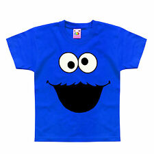 Cookie Monster Sesame Street Funny Comic Costume Kids T-Shirt 1-2 to 12-13 Years