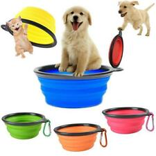 Portable Foldable Collapsible Pet Cat Dog Food Water Feeding Bowl Dish Feeder