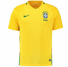 Nike Mens Brasil Brazil Home Football Soccer Jersey Yellow Team 724597-703 NEW