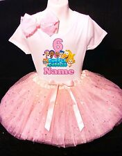 Bubble Guppies Dress 6th Birthday --With NAME-- party Tutu outfit