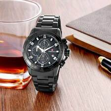 Men's Wristwatches Stainless Steel Band Quartz Watch Date Sport Watches Classic