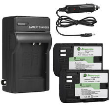 LP-E6 Battery Pack+Charger For Canon EOS 5D Mark II 60Da 5D Mark III LPE6 Camera