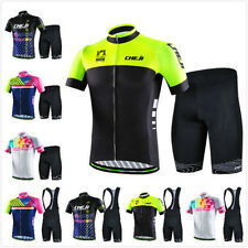 2017 Summer CHEJI Men's Outdoor Cycling Bike Jerseys and (Bib) Shorts Suit Set