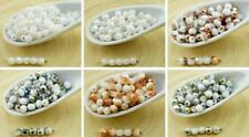 100pcs White Czech Glass Round Faceted Fire Polished Beads Small Spacer 4mm