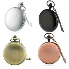 New Antique Pocket Watch Mens Vintage Smooth Chain Quartz Pendant Necklace Gift