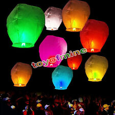 Chinese KongMing Wishing Sky Fly Lanterns Fire Light Lamp Wedding Party CLR. RND