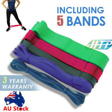 Gym Power RESISTANCE BAND LOOP Exercise Yoga Plates Fitness Training Workout AU