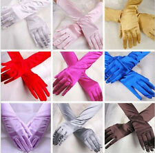 Prom Gloves Evening Party Bridal Hot Costume Long Gloves Opera Wedding Satin