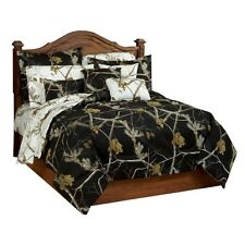 Realtree® AP Black Snow Bedding Comforter Set & Sheets ~ Bed in a Bag 4 Sizes