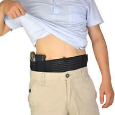 Summer Use Elastic Mesh Ambidextrous Belly Band Waist Concealed  Pistol Holster