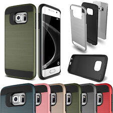 Slim Shockproof Hybrid Brushed Case Cover For Samsung Galaxy S Series Note BE