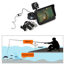 "HD Underwater Ice Video Fishing Dual Camera DVR 4.3"" Monitor 20/30m Fish F1"