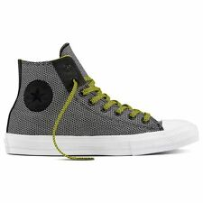 Converse Chuck II Woven High Top Black White Mens Hi Top Trainers