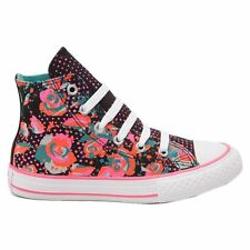 Converse Chuck Taylor Hi Top Floral Black Multi Youths Trainers