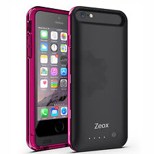 Zeox Backup External Portable Power Charger Cover Battery Case For iPhone 6S 6