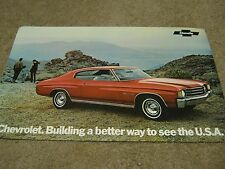 1972 Chevy Chevelle SS 454 Dealer Sales-Showroom Brochure Malibu, Coupe, Convert