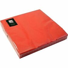 3 Ply Red Paper Napkins 40 x 40cm Square Party Serviettes Tableware Catering