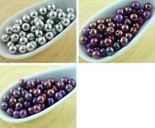 100pcs Round Pressed Czech Glass Beads Small Spacer 4mm
