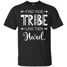 Find Your Tribe Love Them Hard Unisex Cotton Graphic Tee