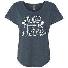 Wild and Free Triblend Dolman Sleeve Graphic Shirt