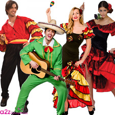 ADULT MENS LADIES LATIN RUMBA SPANISH MEXICAN DANCER FANCY DRESS COSTUME OUTFIT