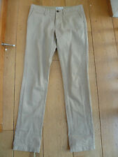 FAT FACE SMART BEIGE TAPERED LEG CHINO TROUSERS UK 6 XXS STRETCH TWILL