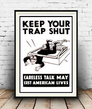 Keep your trap shut : Vintage wartime propaganda ,  Poster reproduction.