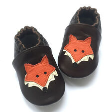Unisex Baby Soft Sole Leather Shoes Toddler Indoor Non-Slip Crib Shoes 0-24M
