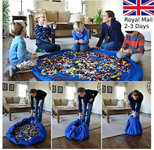 150CM Large Portable Kids Lego Play Mat Storage Bag Toys Organizer Ruger