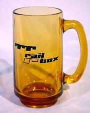RARE TTX Trailer Train Rail Box logo glass mug beer stein VTG railroad EXLNT