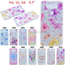 For LG G6 Patterned Rubber Skin Slim Gel Back Clear Soft TPU Silicone Case Cover