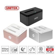 "Unitek USB 3.0 SATA Docking Station 2.5"" 3.5"" HDD SATA Dock Hard Drive Enclosure"