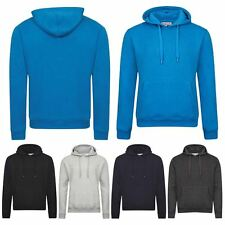 Mens Plain Casual Hoodie Hooded Sweatshirt Work Wear Fleece Top Sweat Pullover