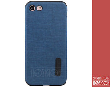 COVER SILICONE FOR APPLE IPHONE 7 COQUE JEANS DESIGN CLOTH SOFT NOZIROH