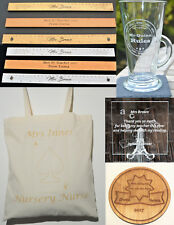 Personalised Teacher Gifts Tote Canvas Bag Coaster Plaque Ruler